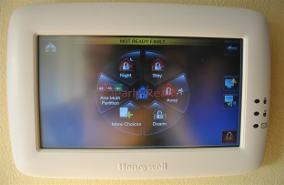 Touch screen alarm system
